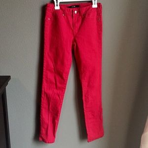 Joes Jeans Girls Red skinny jeans size 14